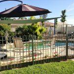 heated pool with plenty of shade